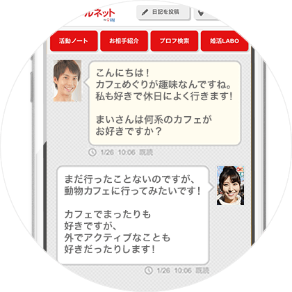 STEP2:メッセージ交換
