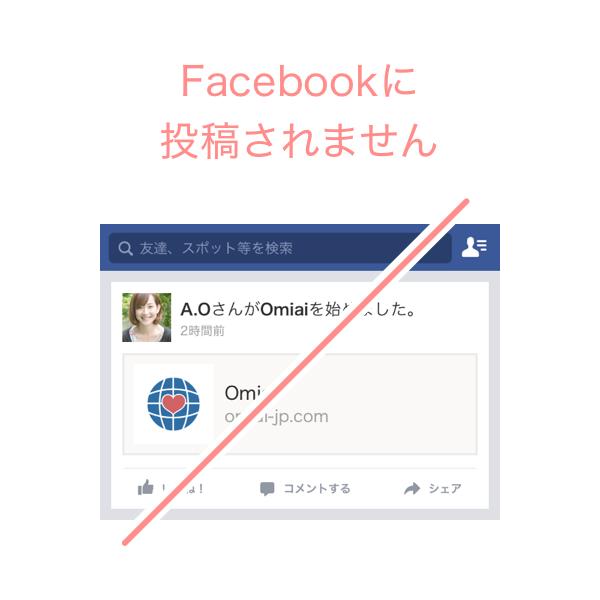 Facebookには一切投稿されない